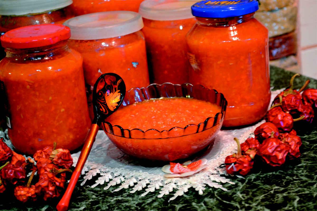 Острая аджика на зиму рецепты пошагово
